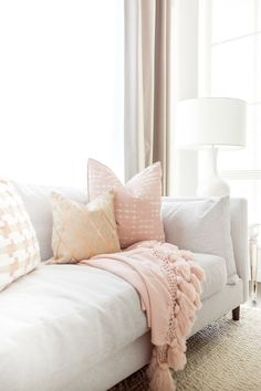 [New] The 10 All-Time Best Home Decor (Right Now) - Apartment by Tamara Martin - Subtle touches of blush pink pillows and throws are a great way to get your home ready for Valentines Day and Spring! Living Room Furniture, Living Room Decor, Day Room, Open Concept Floor Plans, Pink Pillows, Recycled Furniture, My New Room, Decorating Your Home, Interior Decorating
