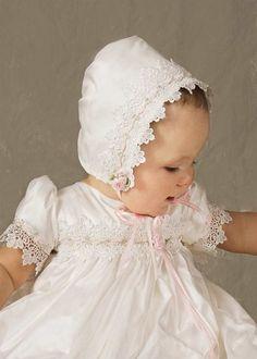 Tess Silk Christening Gowns for Girls