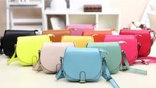 2015 New Fashion Candy Color Women Leather Handbags Cute Women Messenger Bags Casual Women Lovely Shoulder Bags(China (Mainland))
