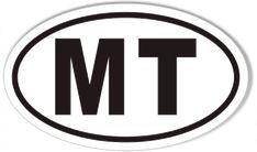 MT Montana Oval Sticker