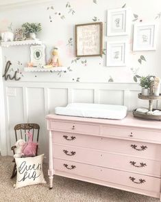 The best method to start your bunny themed nursery is with the best baby bed linen. Decorating your childs nursery can be a great deal of fun, especi. Nursery Room, Girl Nursery, Girls Bedroom, Themed Nursery, Pink Bedrooms, Nursery Decor, Baby Bedroom, Painted Nursery Furniture, Blush Nursery