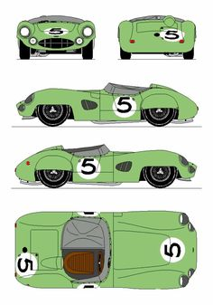 Aston Martin DBR1 1959 Vintage Sports Cars, British Sports Cars, Vintage Cars, Sports Car Racing, Sport Cars, Aston Martin Dbr1, Paper Model Car, Car Prints, Road Race Car
