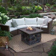 patio table with built in gas fire pit minimalist home design