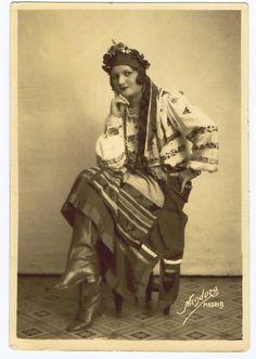 Antique Vintage photo of a  Hungarian Folk Dancer