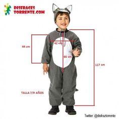 Disfraz de Lobo Gris Animal Costumes, Jumpsuit Pattern, Kids Patterns, Easy Crafts For Kids, Kids Pajamas, Baby Dress, Motorcycle Jacket, Kids Outfits, Rompers