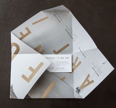 Self promotion idea. Make an envelope from your letterhead/collateral - fantastic example by Design Ranch