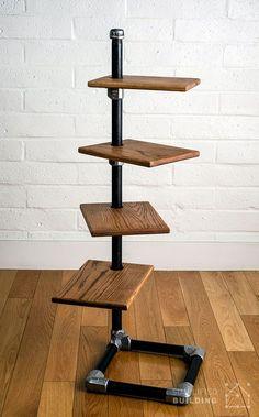 Free Standing Bookshelf: Plans to Build Your Own #DIY #pipeshelf #bookshelf