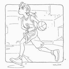 Basketball girl - moni-o-inom - Fitness and Exercises, Outdoor Sport and Winter Sport Basketball Manga, Basketball Drawings, Sports Drawings, Basketball Pictures, Basketball Drills, Girls Basketball, Basketball Gifts, Basketball Quotes, Basketball Posters