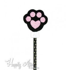 Paw Pencil Topper Embroidery Design