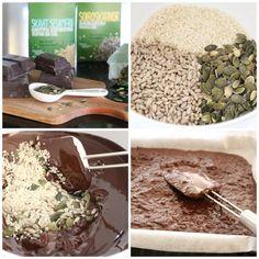 Sjokoladeknekk med frø og kjerner