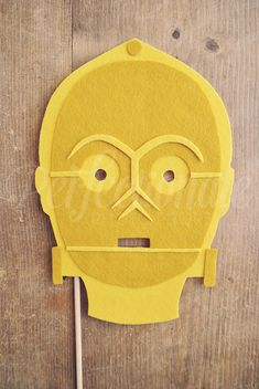 C3PO Photo-Booth Prop C3PO Mask Prop Felt by Perfectionate