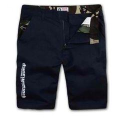 AAPE Bape Camo Pocket Shorts (Navy) #abathingape #bape #aape #shorts #streetwear #streetfashion #fashion #style #urbanwear