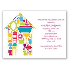 Round The House Bridal Shower Invitation by David's Bridal #davidsbridal #invitations #bridalshower