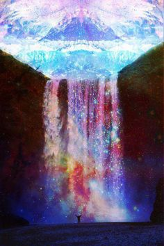 starry waterfalls.. beautiful #SherriHillStyle