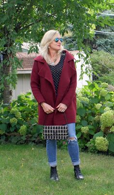 Wine Cardigan | Doused in Pink - A Life & Style Blog