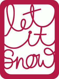 Silhouette Design Store - View Design #53002: let it snow journaling card