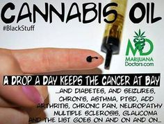 Cannabis Oil, a Drop a Day keeps Cancer at Bay .....and diabetes,  seizures, chron's, neuropathy, MS Multiple Sclerosis.....on and on and on....