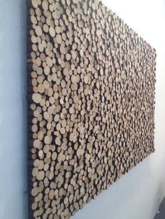 Interesting wall covering done by an artist at the Affordable Art Fair Wooden Wall Art, Diy Wall Art, Wooden Walls, Wooden Diy, Wood Art, Wood Sculpture, Wall Sculptures, Wall Art Designs, Wall Design