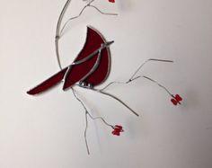 Chickadee trio group stained glass suncatcher by seasonaltreasures