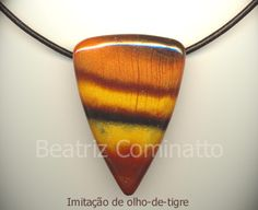 Imitação de olho-de-tigre em cerâmica plástica (polymer clay) | Flickr - Photo Sharing!