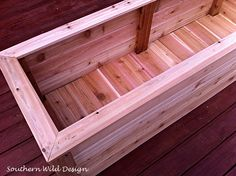 Need a new planter box but don't have a lot of money to invest in one? This is an economical way to build a planter box.