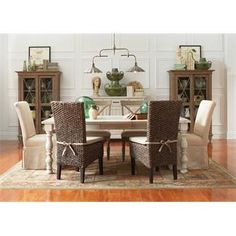 Mix-N-Match Woven Leaf Side Chair I Riverside Furniture