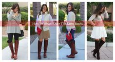 How to Wear Over The Knee Boots. Tips to make the fall's hottest shoes, OTK boots, work in your wardrobe.