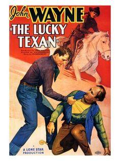john wayne movies | AP458 - The Lucky Texan, John Wayne, Movie Poster 1934 (30x40cm Art ...