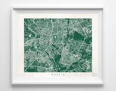 Madrid Street Map Print