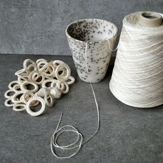 Total white for textile and ceramic jewelry by Aliquid