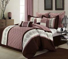 Livingston Rose 12 Piece Comforter  Bed in Bag Set With Sheet Set