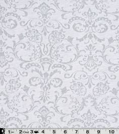 Famous Maker Apparel Fabric- White Burnout Knit, , hi-res