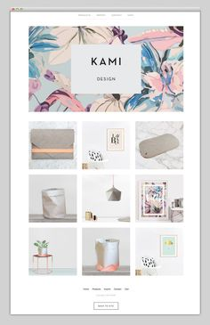 Kami - I really like the image and colorblock with text of the header, I like how simply the projects are stacked.  (Most beautiful websites collection – www.mindsparklemag.com)