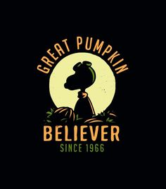 """It's pumpkin season! This epic shirt is back by popular demand. """"Great Pumpkin Believer"""" halloween t-shirt. SnorgTees makes super soft, comfy tees and hoodies for men, women and kids.  Discover your favorite shirt today!"""