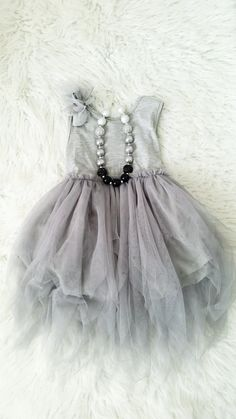 Darling gray tutu dress is perfect for any occasion