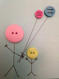 Card button craft. Made by Arthur & Mrs Bouvier Designs