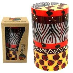Hand Painted Candle - Single in Box - Uzima Design (South Africa)   Overstock.com Shopping - The Best Deals on Candles & Holders