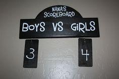 scoreboard for snowball fight