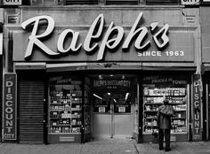 i love interesting store facade. Ralph's from Store Front - The Disappearing Face of New York, by James and Karla Murray (Gingko Press) New York City, Green Label, Shop Fronts, Old Signs, Shop Signs, Boutiques, Old And New, Facades, Yorkie