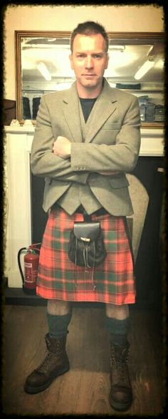Choose Tartan. Choose Kilts. Choose Handmade. Choose Made in Scotland. Choose Gordon Nicolson Kiltmakers. #GNKfamily. Ewen MacGregor in Crieff Kilt with Nicolson Tweeds July 2016.