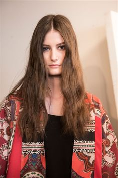 Bohemian makeup and hair at ETRO AW2015 Makeup Beauty FACES Runway www.faces.ch/runway