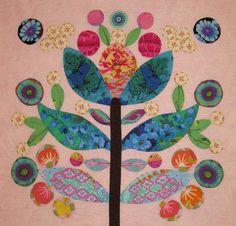 CLOSEUP FUSSY CUT FOLK ART FLOWER - LollypopTree2Two
