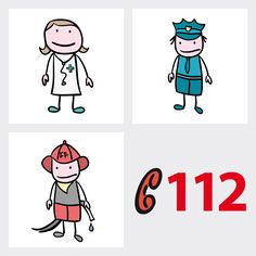The emergency number in Germany. Easy to read for kids. Hospital Doctor, Science And Nature, Preschool Activities, Cool Kids, Comics, Fun, Fictional Characters, Youtube, Infant Activities