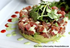 Tuna Tartar at Boca Landing Waterstone Resort Boca Photo by Hungry Goddess
