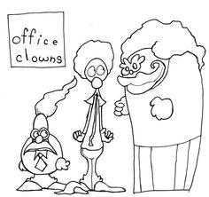 'OFFICE CLOWNS GROUP SHOT' by Adam Beanish