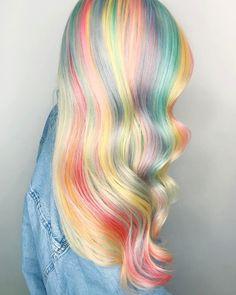 "1,614 Likes, 34 Comments - Hair | Vegas (@shelleygregoryhair) on Instagram: "" optical rainbow . . . . . . . #behindthechair #btconeshot_vibrant17 #btconeshot_pastel17…"""