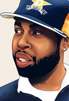 J Dilla Vector by fat-jedgfx on DeviantArt J Dilla, Arte Do Hip Hop, Hip Hop Art, Dope Music, My Music, Detroit, Michigan, Rapper, Hip Hip