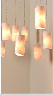 Sukt blødt lys ceramic lights: Hanging Lights, Amorph Porcelain, Ceramics Cylinder, Ceramic Light
