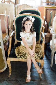 vintage style childs portrait