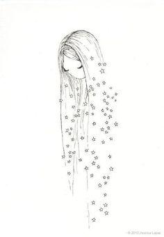 Sadece benim , benden diyebileceğim bi Yıldız diledim, gözden uzak, gönlüme yakın.... Gündüzde seveceğim.... Bilemedim! Gözümle tanıyamayacağım kadar uzak, binlerce göz izinden kirli .... #drawing